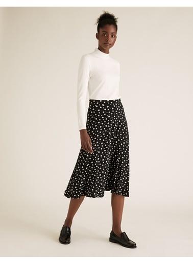 Marks & Spencer Balıkçı Yaka Bluz Beyaz